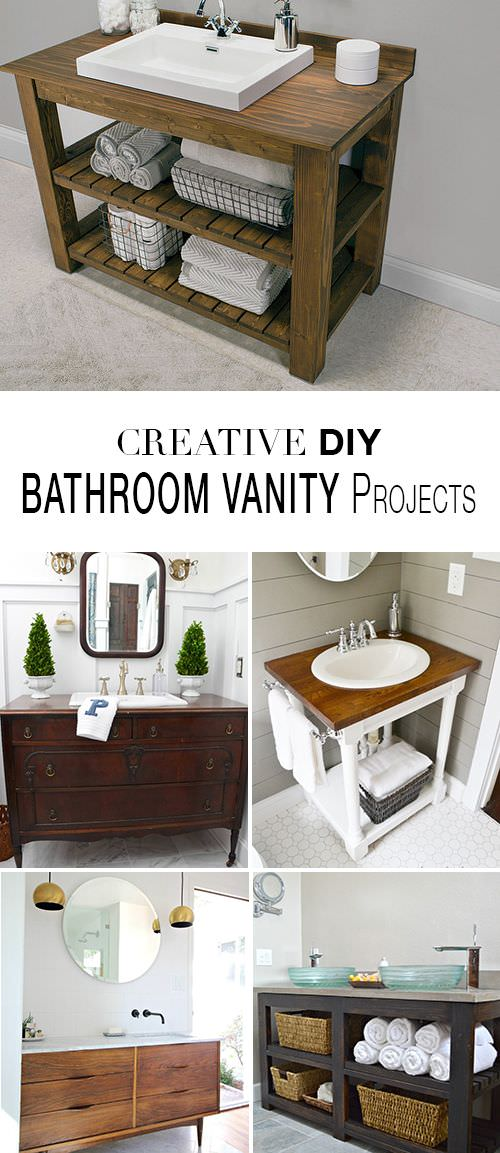 Diy Bathroom Projects creative diy bathroom vanity projects • the budget decorator