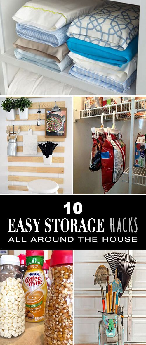 Easy storage hacks