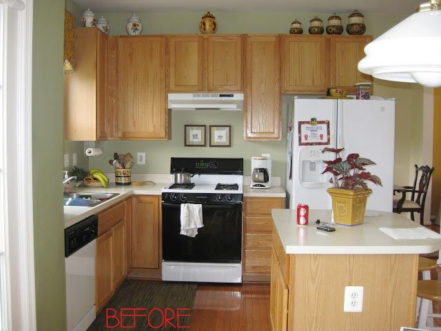 look at what a major difference this made in her before and after  be sure to check out her whole makeover while you are there it u0027s amazing  diy budget kitchen makeovers   one project at a time  u2022 the budget      rh   thebudgetdecorator com