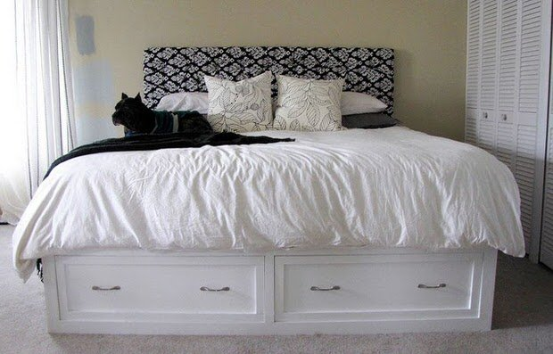 Parisot King Size Storage Bed