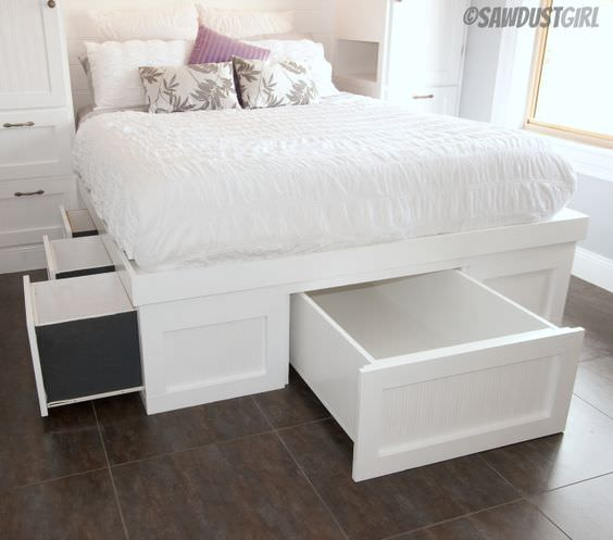 DIY Storage Bed Projects • The Budget Decorator