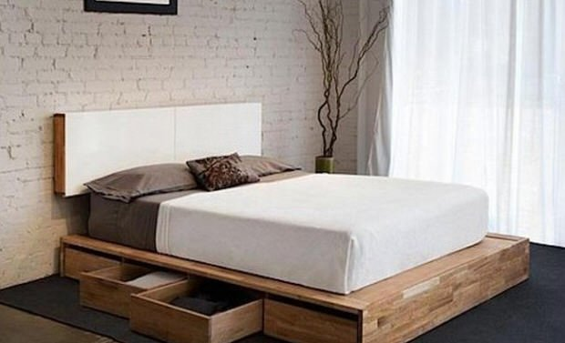 Diy King Size Platform Bed With Storage Cost