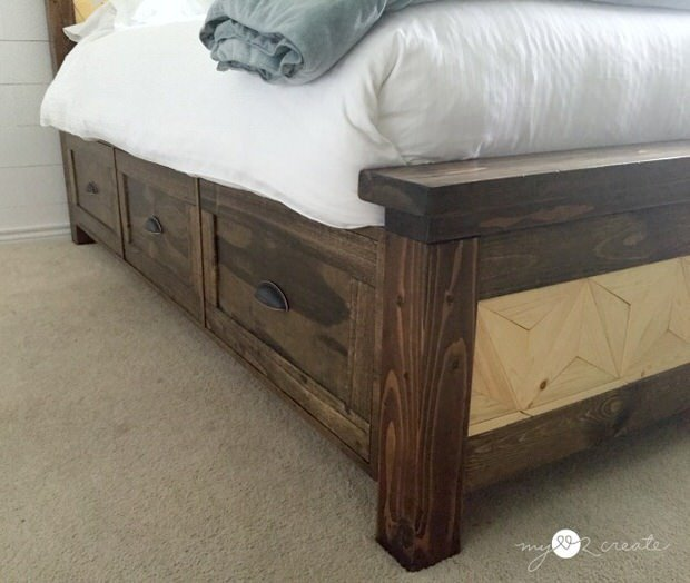 Farmhouse Twin Bed With Storage Drawers