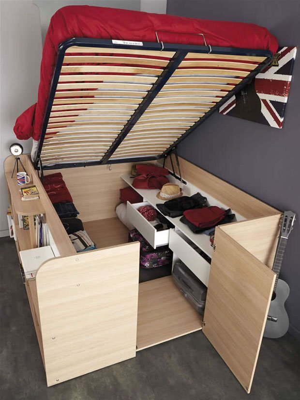 A Few Little Design Tweaks And You Have Closet In Bed From French Designer Parisot