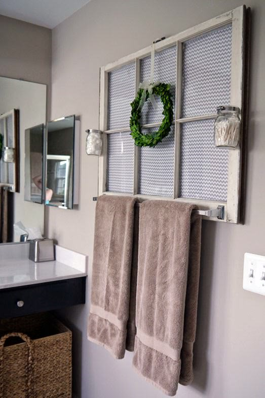 "... Tara made this completely awesome towel rack from an old window. She walks you through how she did it, including some great tips for the ""details""."