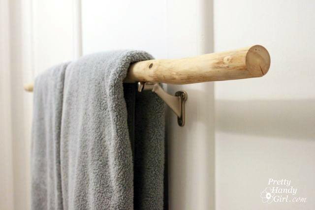 10 Clever Diy Towel Racks The Budget Decorator