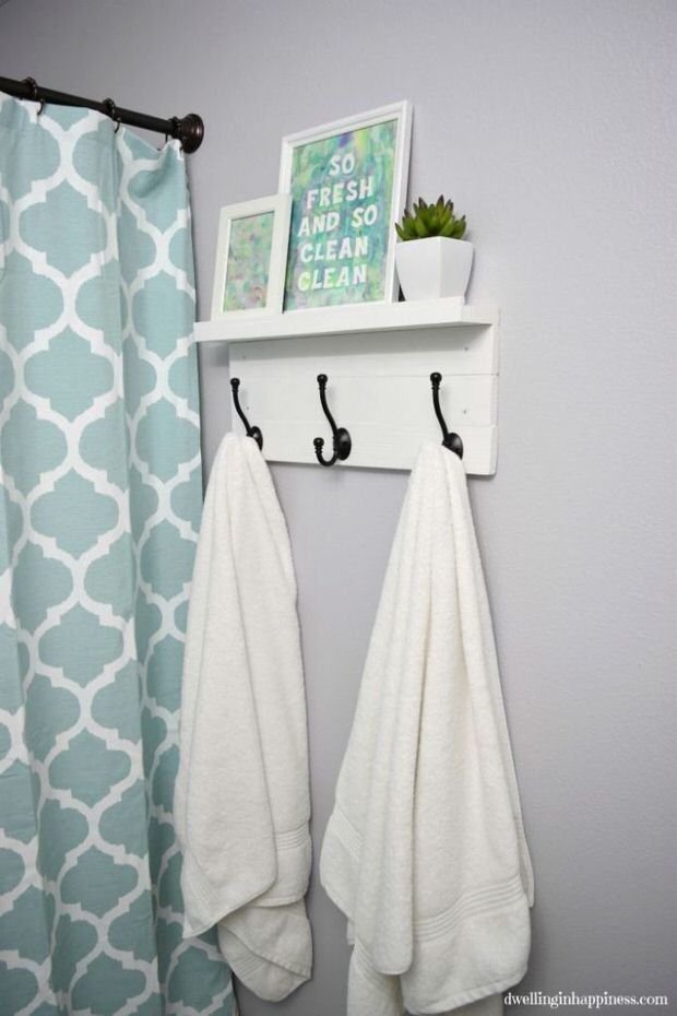 10 Clever Diy Towel Racks The Budget Decorator
