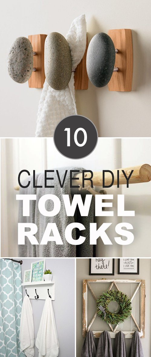 10 Clever DIY Towel Racks