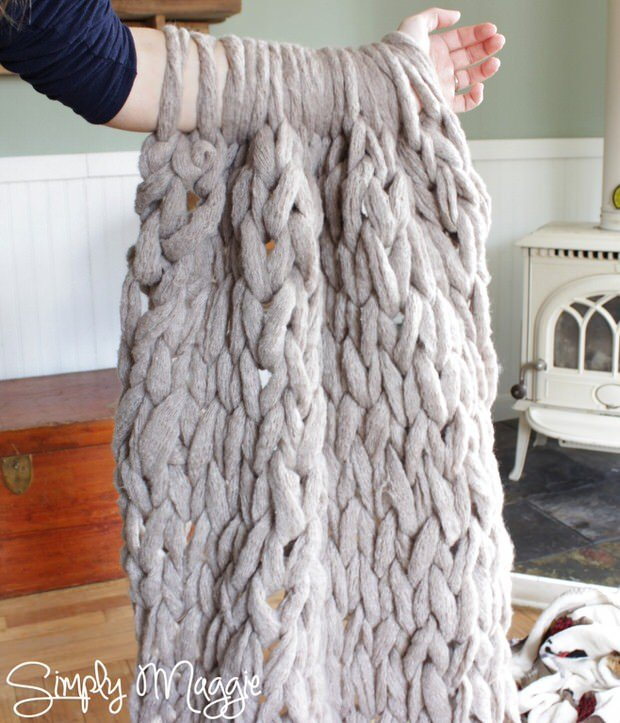The Diy Mommy Used Video Tutorial Above From Simply Maggie To Create An Arm Knit Blanket In Less Than Hour You Have Go Check Out Yarn She