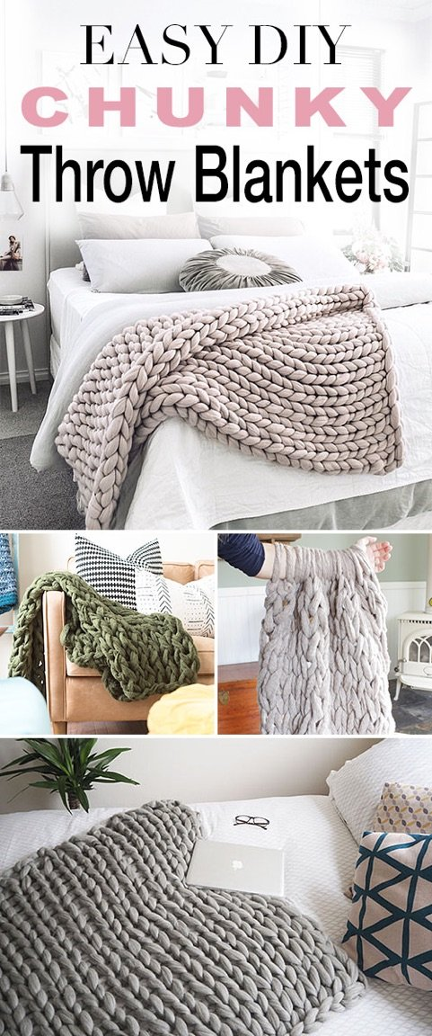 How To Make A Wool Blanket.Easy Diy Chunky Throw Blankets The Budget Decorator