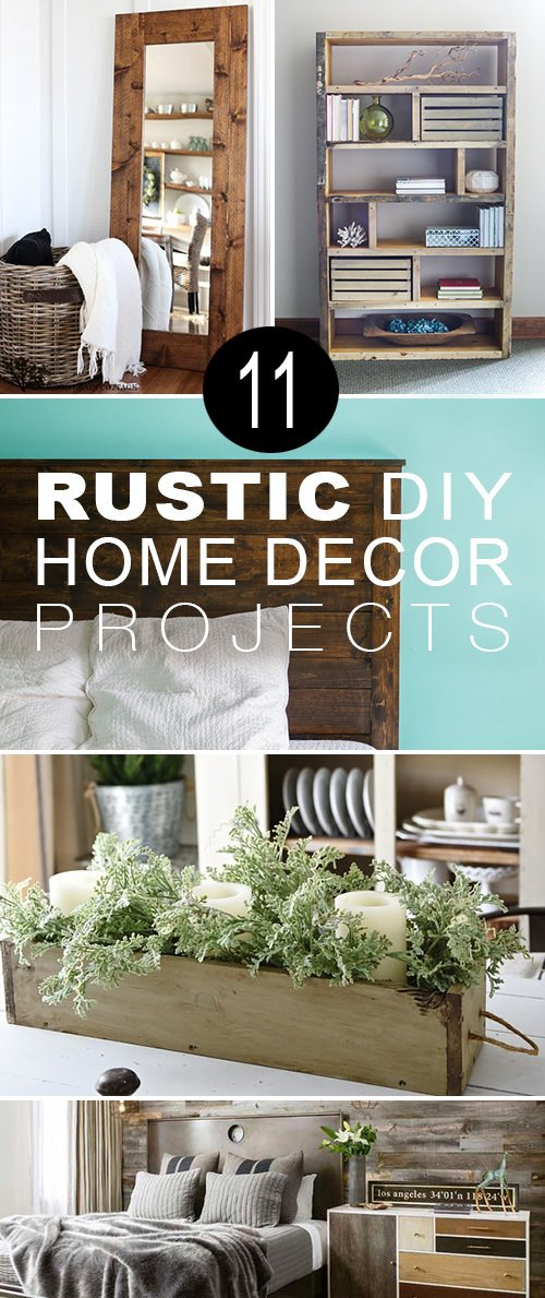 Rustic diy home decor projects 11 Rustic