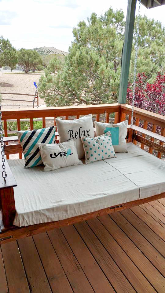 Diy Front Porch Swing Projects The Budget Decorator