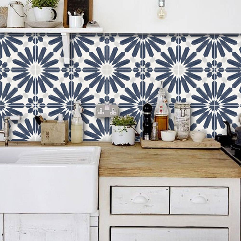 - 15 Kitchen Backsplash Ideas That Go Right Over Old Tile! • The