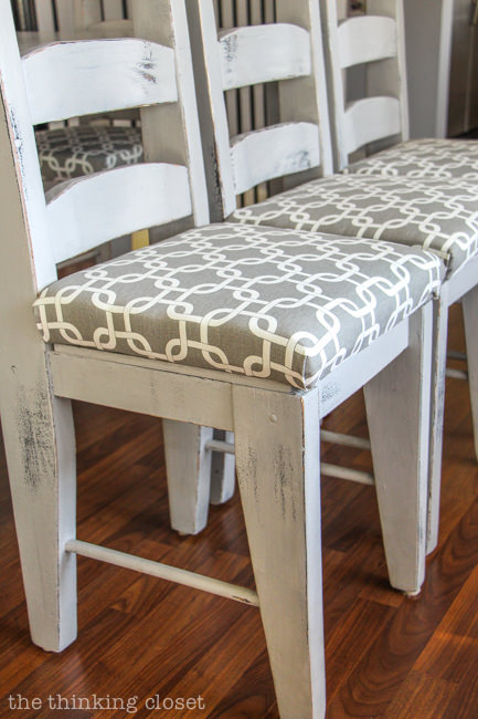 If You Just Need To Reupholster A Chair Seat On Dining The Thinking Closet Has Covered Here Are Easy Instructions How Cover