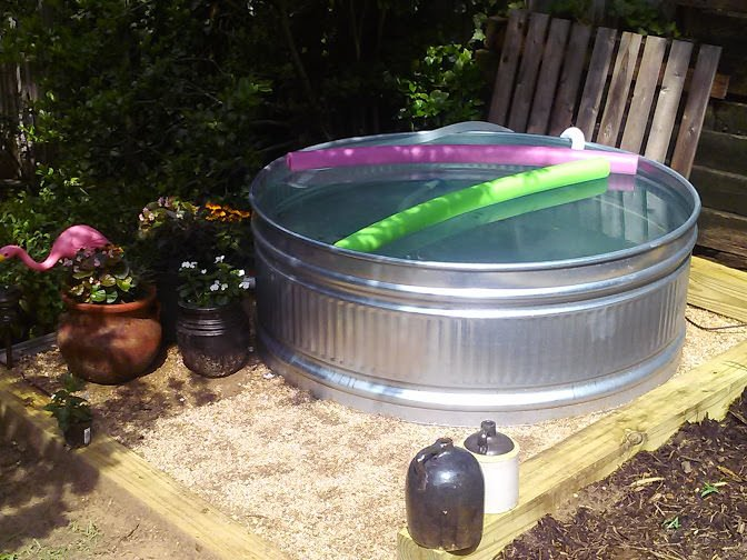 Diy A Stock Tank Pool