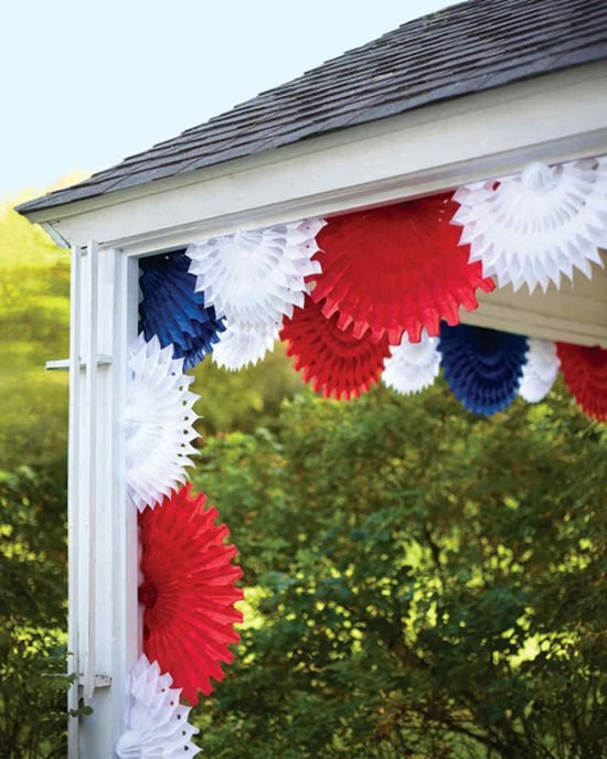 4th of July Decorating Tissue Paper Fans