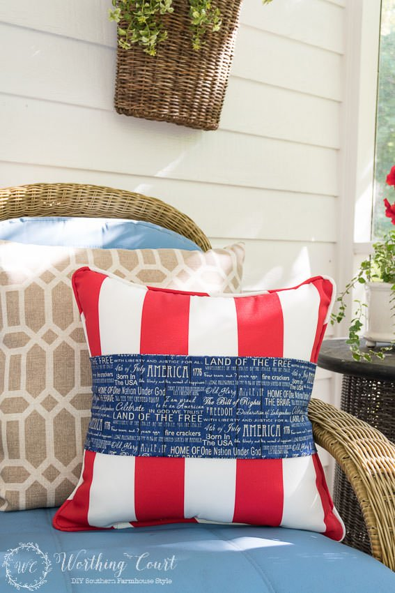 Front Porch Outdoor 4th Of July Decorating Ideas The Budget