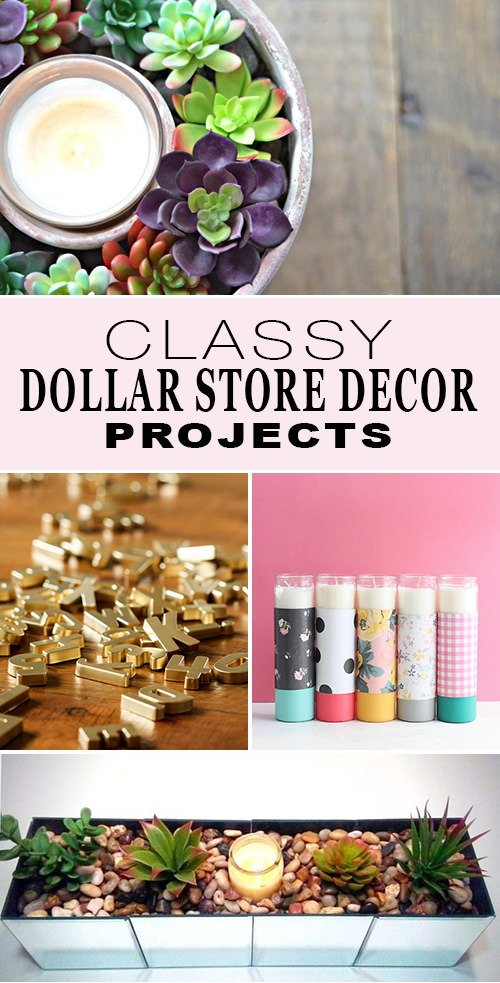 Classy dollar store decor & projects