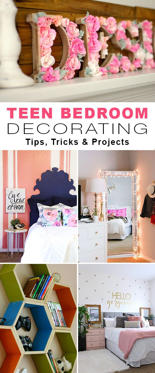 Teen bedroom decorating tips & projects