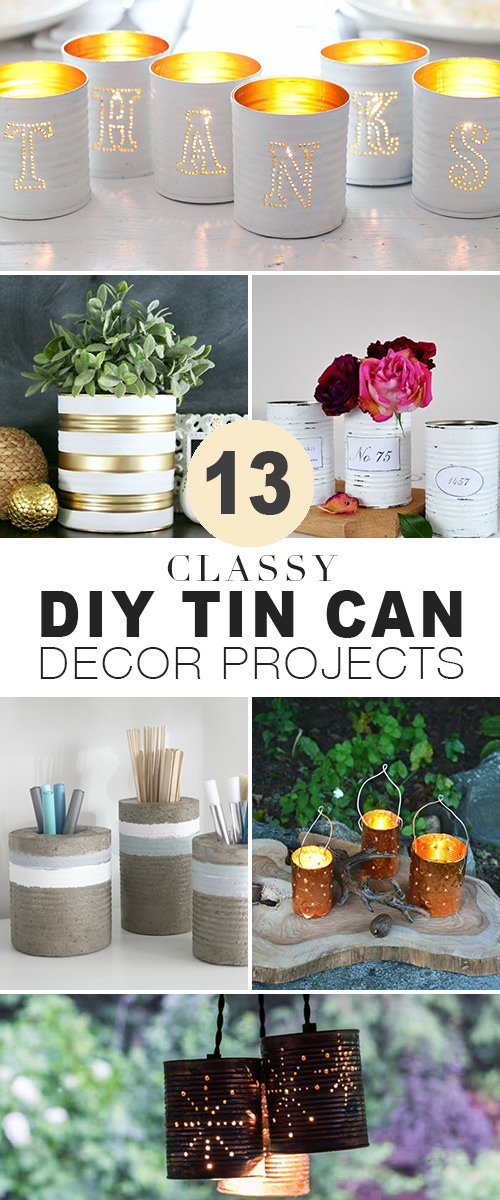 13 Classy DIY Tin Can Projects