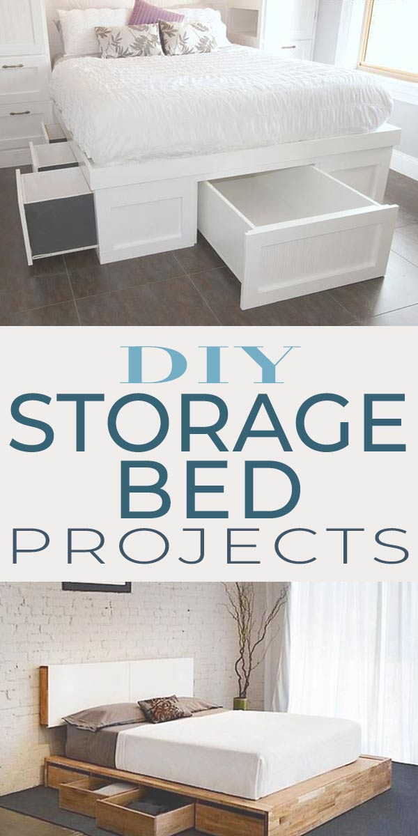 Diy Storage Bed Projects The Budget Decorator,Front Door And Shutter Colors For Red Brick House
