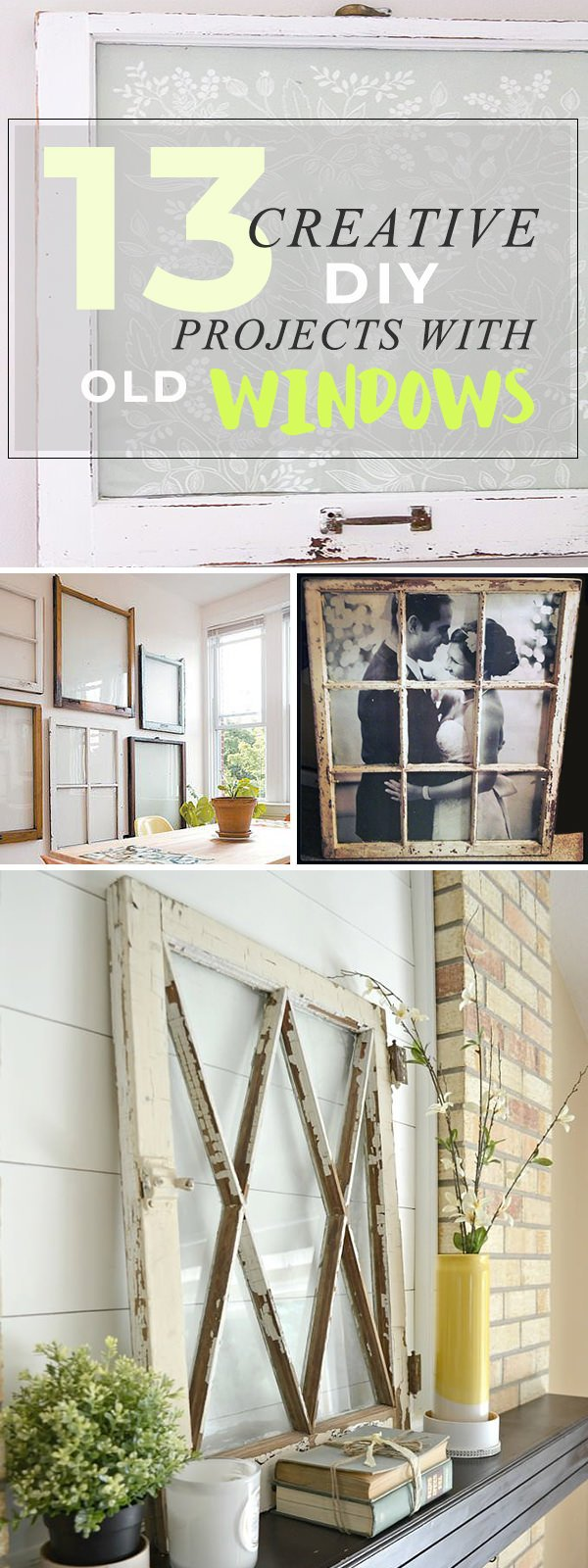 13 Creative DIY Projects with Old Windows • The Budget Decorator