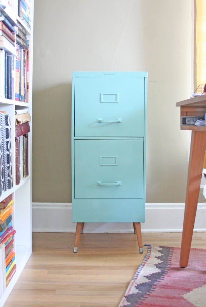 Wonderful Finally, We Have This Rose Gold And White Filing Cabinet DIY Project From  U0027One Good Thing By Jilleeu0027. We Love The Geometric Details On This Piece, ...