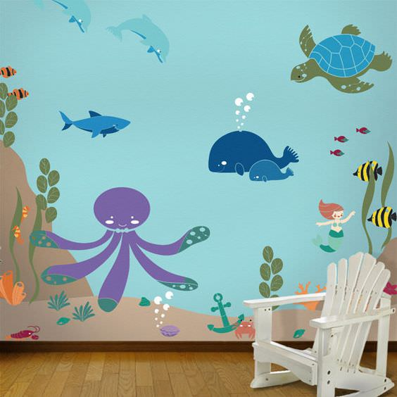 How to Paint Wall Murals for Kids - 10 Easy DIY Projects ...