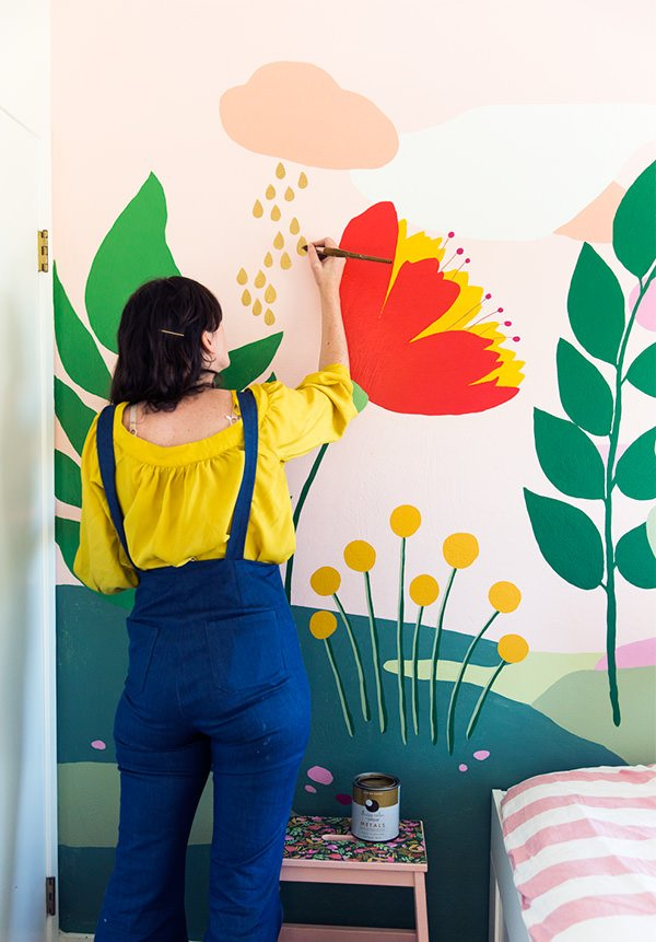 child wallpaper mural  How to Paint Wall Murals for Kids - 10 Easy DIY Projects • The ...