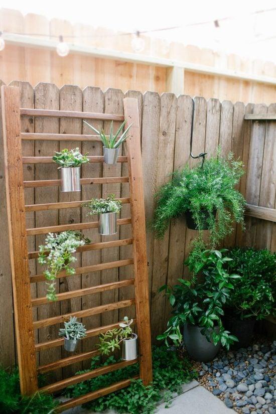 12 DIY Ideas for Patios, Porches and Decks - vertical plant structure