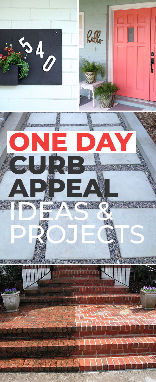 One Day Curb Appeal Ideas Projects The Budget Decorator