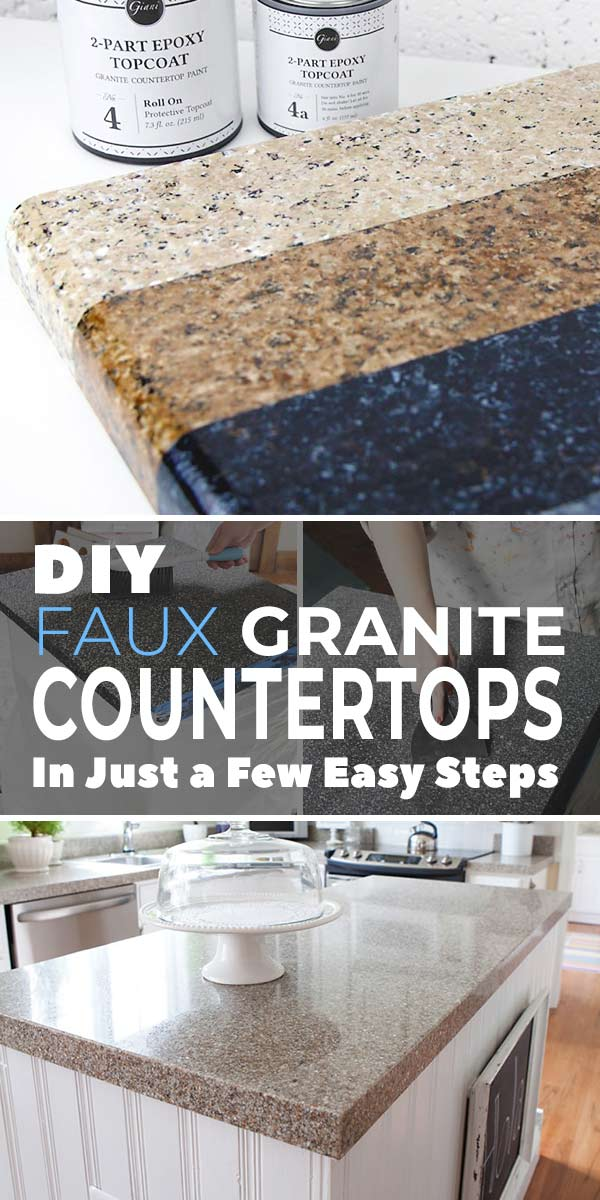DIY Faux Granite Countertops in Just a Few Easy Steps