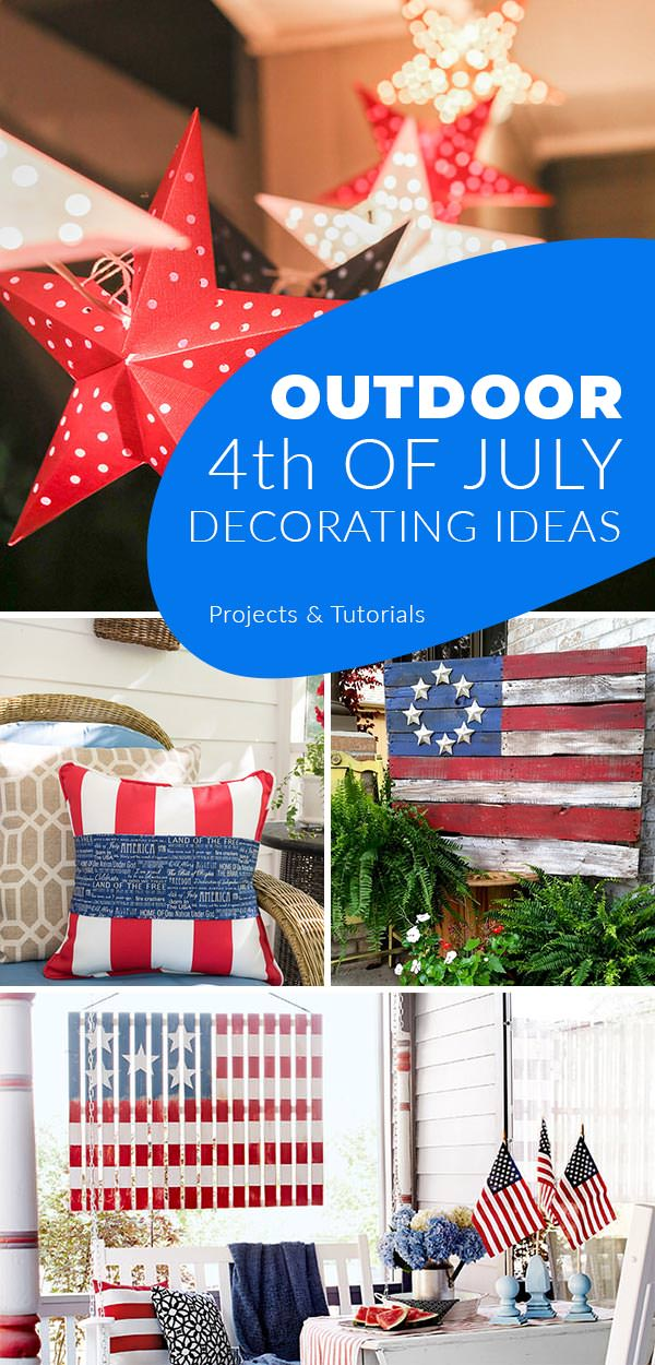 Front Porch & Outdoor 4th of July Decorating Ideas • The ...