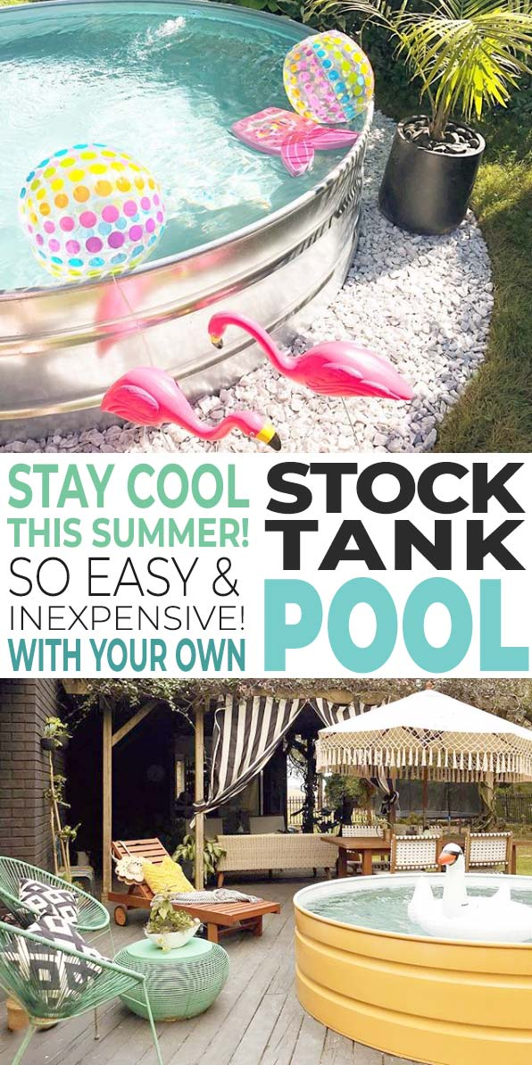 Diy Stock Tank Pool Stay Cool The Budget Decorator