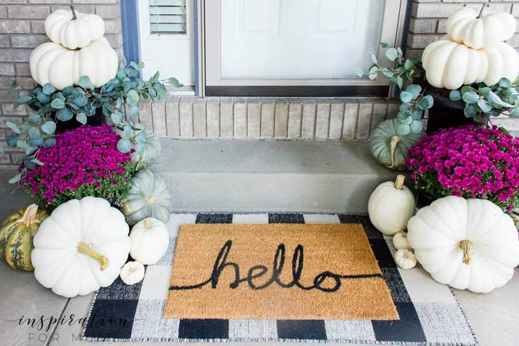 Fall Front Porch Ideas On A Budget The Budget Decorator