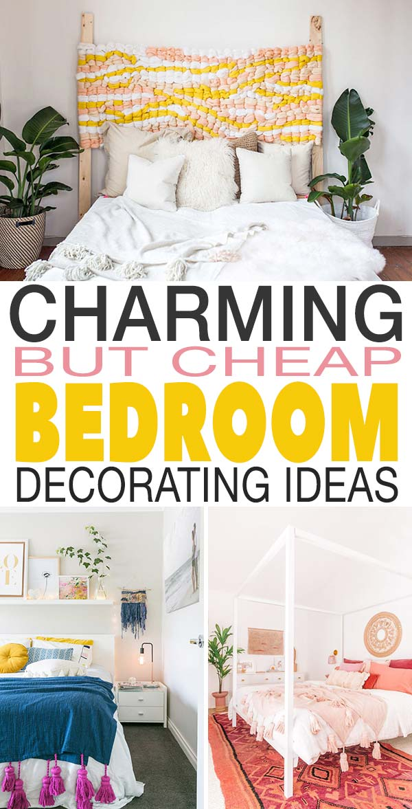 Charming But Cheap Bedroom Decorating Ideas