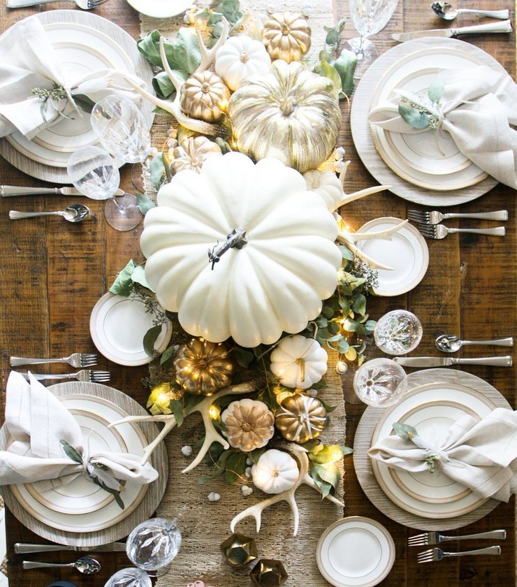 Inexpensive Thanksgiving Table Decor Ideas : High Style ...