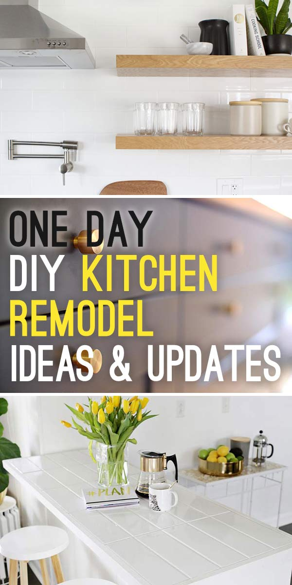One Day DIY Kitchen Remodel Ideas & Updates