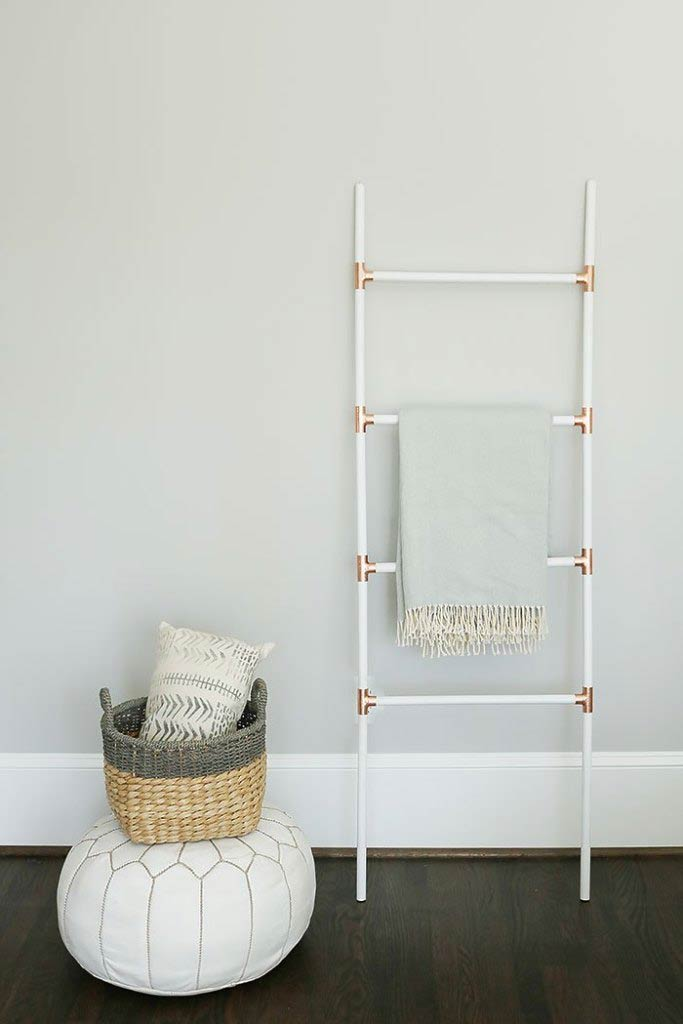 Easy Diy Blanket Ladders For Every Style Home The Budget Decorator