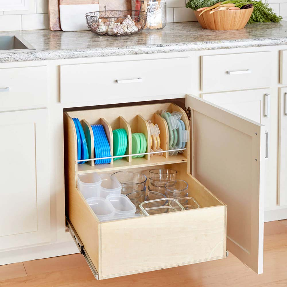 Make Your Own Tupperware Organizer The Budget Decorator