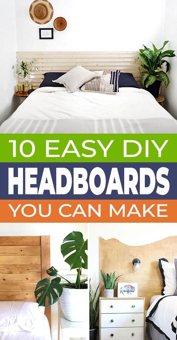 10 Easy DIY Headboard Ideas You Can Make