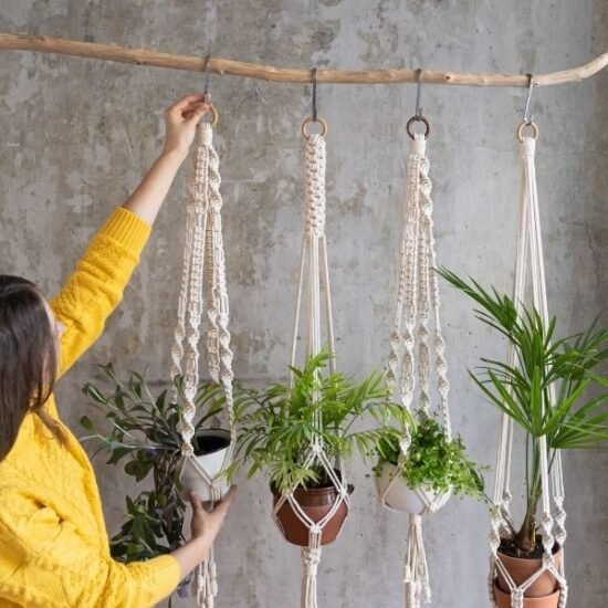 Simple DIY Macrame Plant Hanger Tutorials